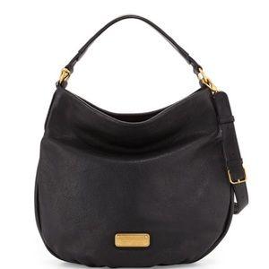 Marc Jacobs Black Tumbled Leather Hobo Bag